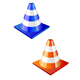 Traffic cone in two colors - GraphicRiver Item for Sale