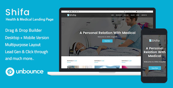 Unbounce Multipurpose Landing Pages Pack – Shifa