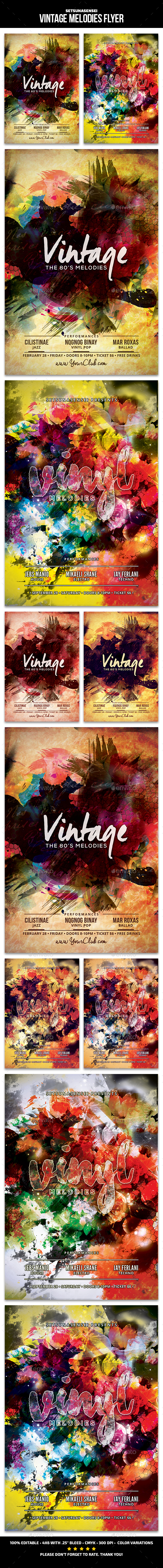 Vintage Melodies Flyer - Clubs & Parties Events