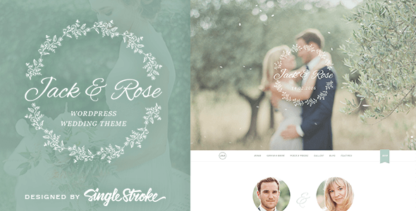 Jack & Rose - A Whimsical WordPress Wedding Theme - Wedding WordPress