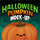 Halloween Pumpkin Face Mock-Up - GraphicRiver Item for Sale