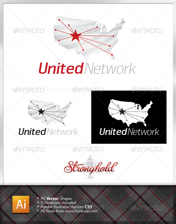 United Network Logo Template - Abstract Logo Templates