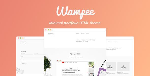 Wampee – Minimal Portfolio HTML Template