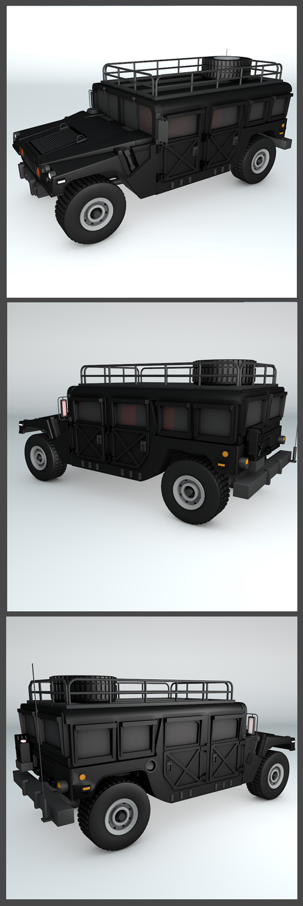Hummer H1 Wagon - 3DOcean Item for Sale