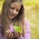 The Girl With a Plant In Hands - VideoHive Item for Sale
