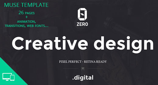 Creative Adobe Muse template