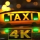 Taxi Drives Off In Night City - VideoHive Item for Sale