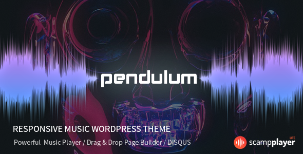 Pendulum – Responsive Music WordPress Theme for Bands and Djs