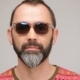 Adult Bearded Man In Sunglasses Posing - VideoHive Item for Sale
