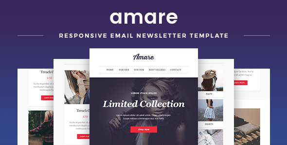 Amare Responsive Email Newsletter Template By Maestomail