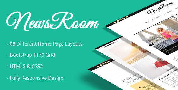Newsroom – Responsive Blog Template