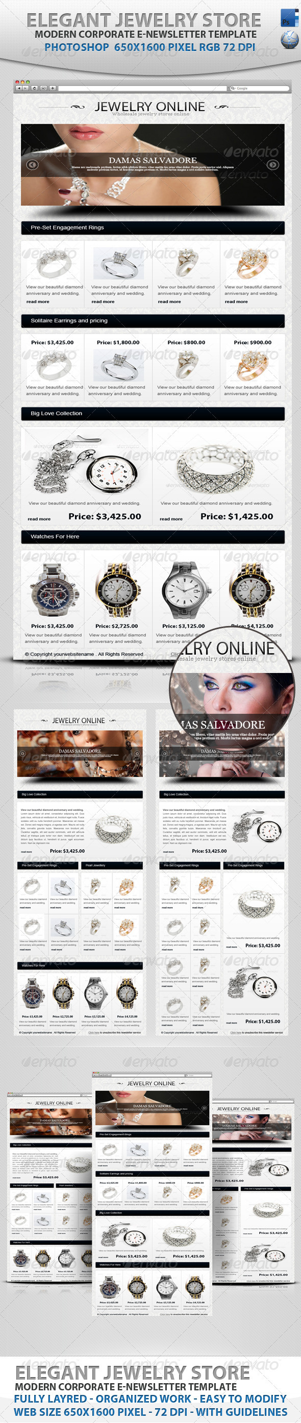 Elegant Jewelry Store E-newsletter - E-newsletters Web Elements