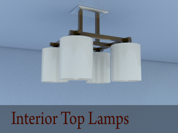 Interior Top Lamps - 3DOcean Item for Sale