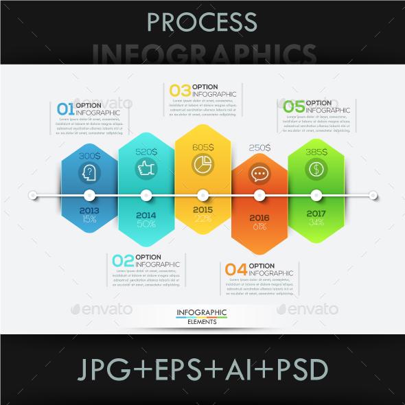 Modern Infographic Arrow Timeline