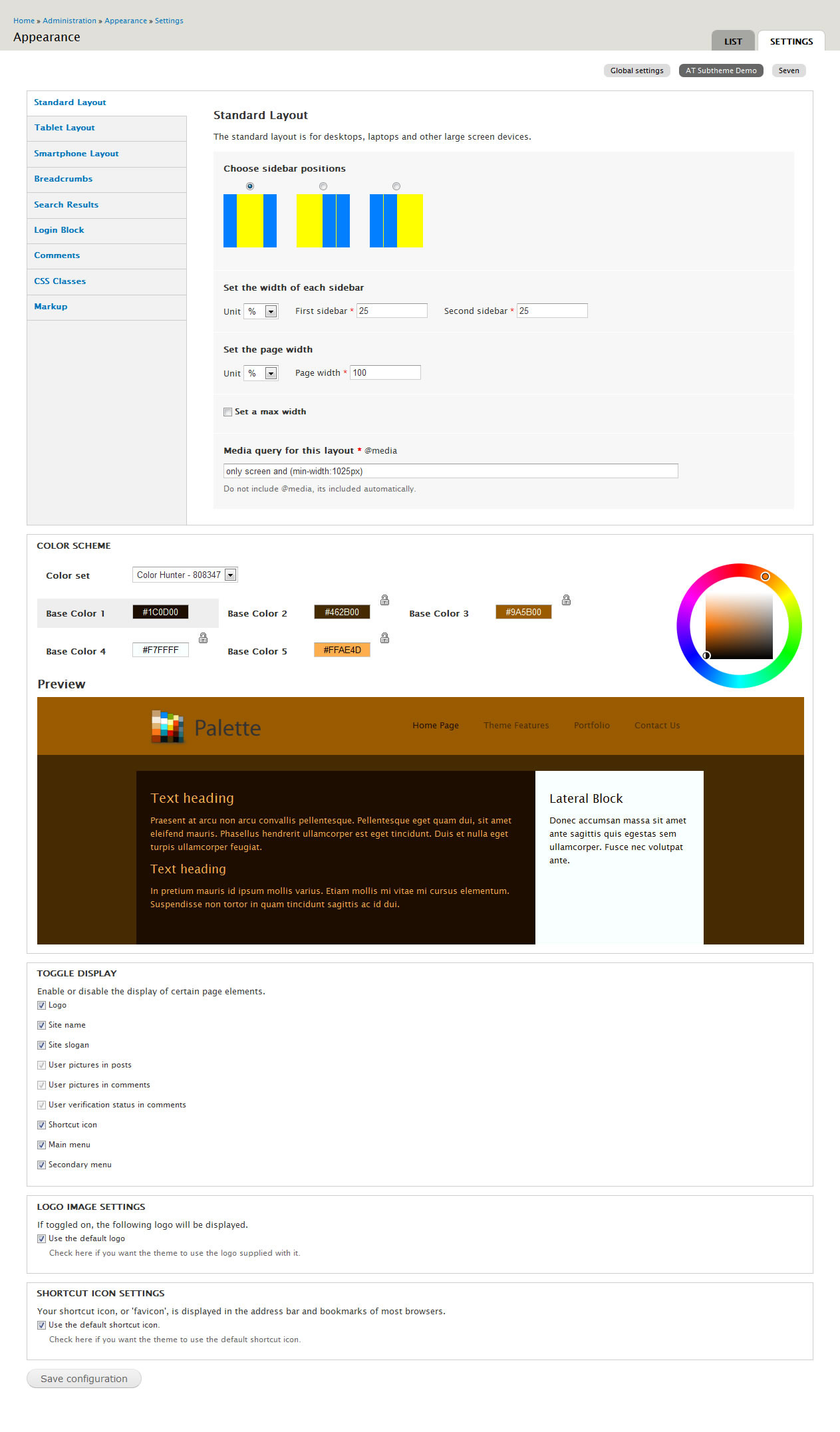 palette 4 in 1 drupal theme color switcher by doublemthemes