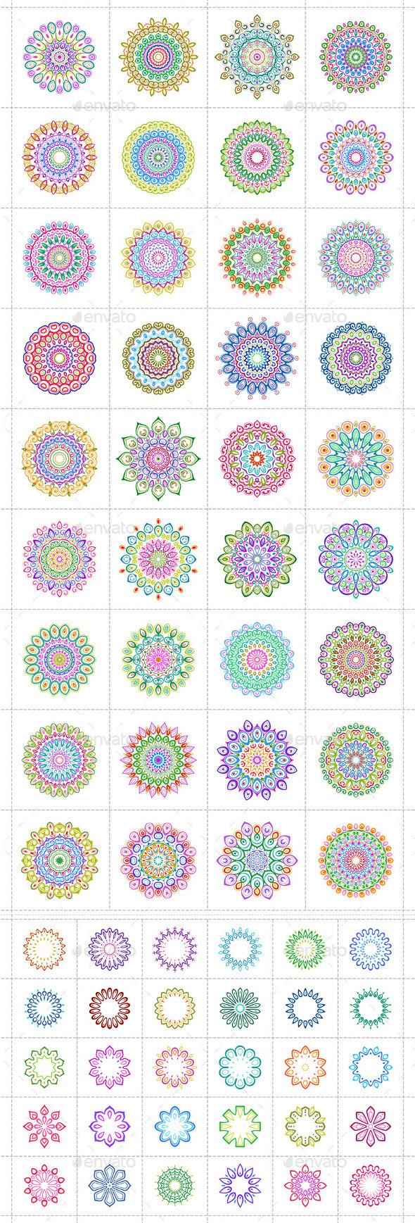 Colorful Mandala - Decorative Symbols Decorative