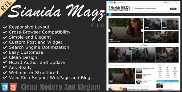 Sianida - Responsive Magazine Blogger Theme - Blogger Blogging