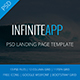 AppINFINITE - App Landing PSD Template - ThemeForest Item for Sale