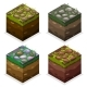 Colors Game Block Isometric Cubes, Nature Unending - GraphicRiver Item for Sale