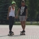 Longboarding, Skateboarding, Sport In a City Park - VideoHive Item for Sale