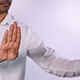 Asian Man Makes Open Palm Gestures - VideoHive Item for Sale