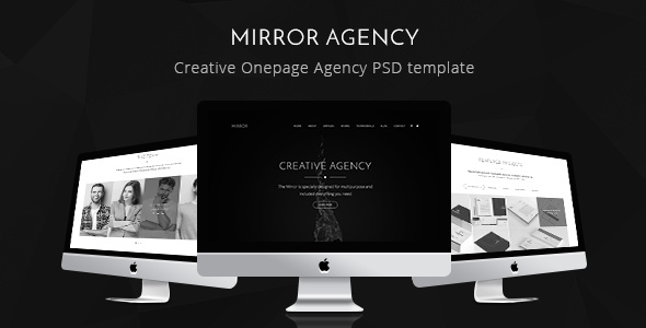 Mirror - Creative Onepage Agency PSD Template
