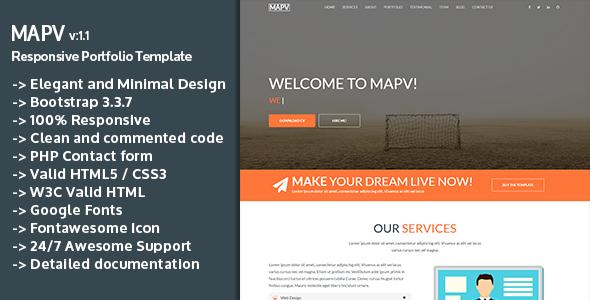 MAPV – Responsive Portfolio Template