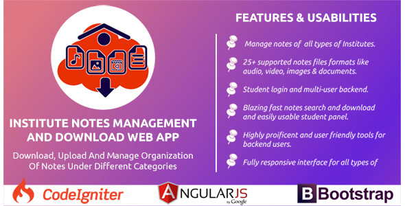 Institute Notes Management Web Application - CodeCanyon Item for Sale