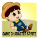 Farmer Boy Sprite Character - GraphicRiver Item for Sale