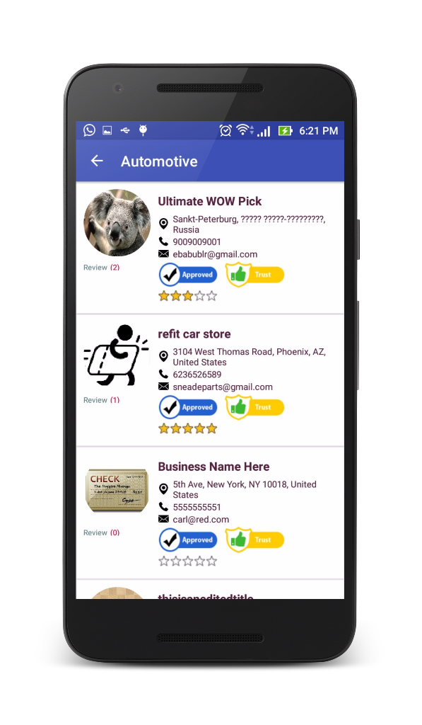 android app - ic listing classified search engineshreehariweb, Presentation templates