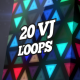 Triangles LED Wall VJ Loops Pack - VideoHive Item for Sale