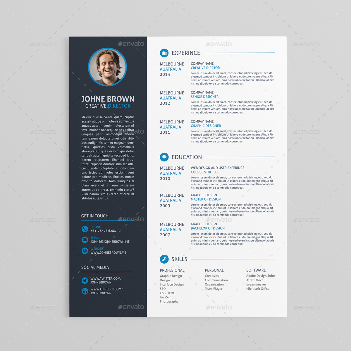 scresume resume cv and cover letter template by bloomthemez