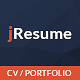 jResume - Creative vCard & Resume Portfolio PSD Template - ThemeForest Item for Sale
