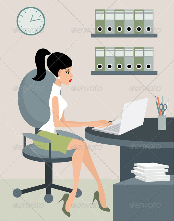 Secretary at Office - Business Conceptual