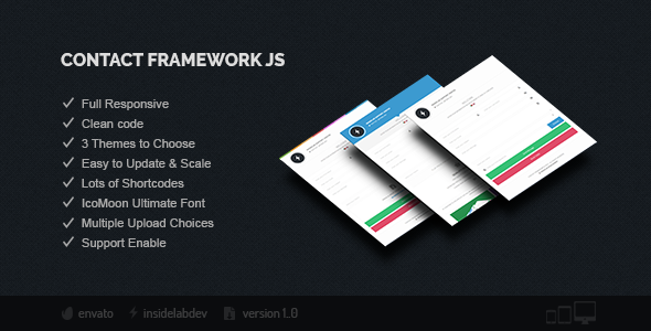 Contact Framework JS - CodeCanyon Item for Sale