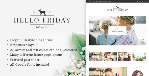 Hello Friday – Elegant Lifestyle Blog Theme