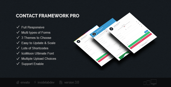 Contact Framework Pro - CodeCanyon Item for Sale