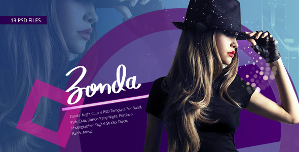Zonda - Night Club PSD Template