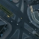 Aerial Vertical View Of Car Traffic On City Road - VideoHive Item for Sale