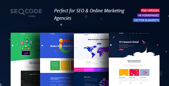 SeoCode – The Ultimate SEO & Online Marketing PSD Template Design