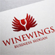 Wine Wings Elegant Logo - GraphicRiver Item for Sale