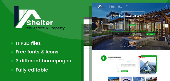 Real Estate & Property PSD Template