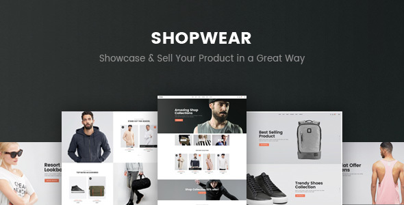 Shopwear - eCommerce PSD Template