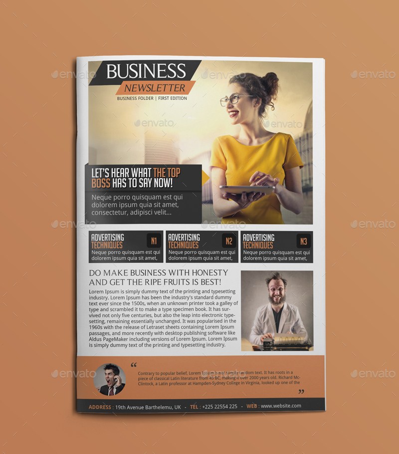 Business Newsletter By Blogankids  Graphicriver