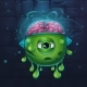 Monsters Cartoon Slug With Brains - GraphicRiver Item for Sale