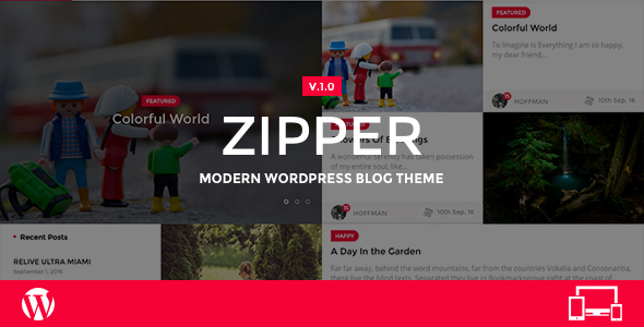 Zipper – Modern WordPress Blog Theme
