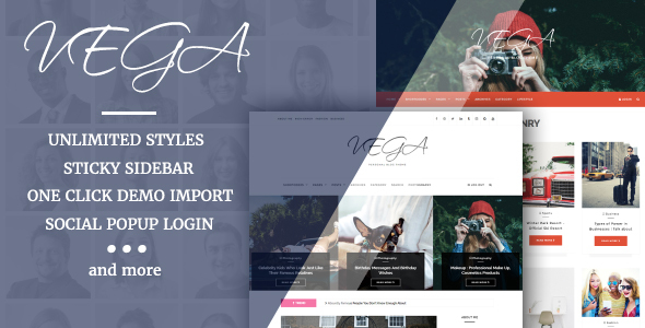 VegaBlog | Clean & Versatile WordPress Blog Theme