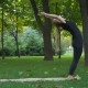 Girl Makes Yoga Exercises - VideoHive Item for Sale