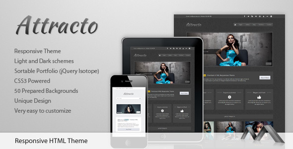 Attracto - HTML Responsive Template - Photography Creative