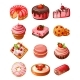 Vector Set Of Icons Sweets - GraphicRiver Item for Sale